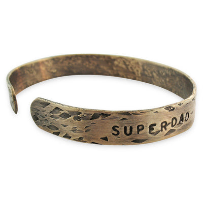 Super Dad Thin Cuff  - IsabelleGraceJewelry