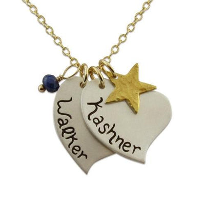 Sweet Hearts Name Charm Necklace  - IsabelleGraceJewelry