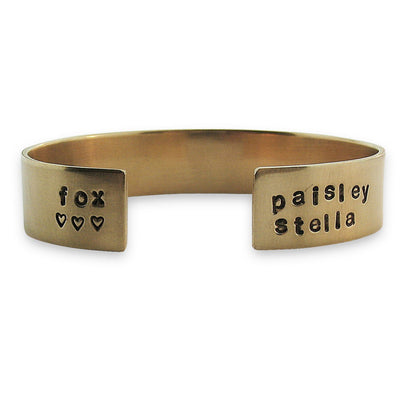 Thick Personalized Cuff  - IsabelleGraceJewelry