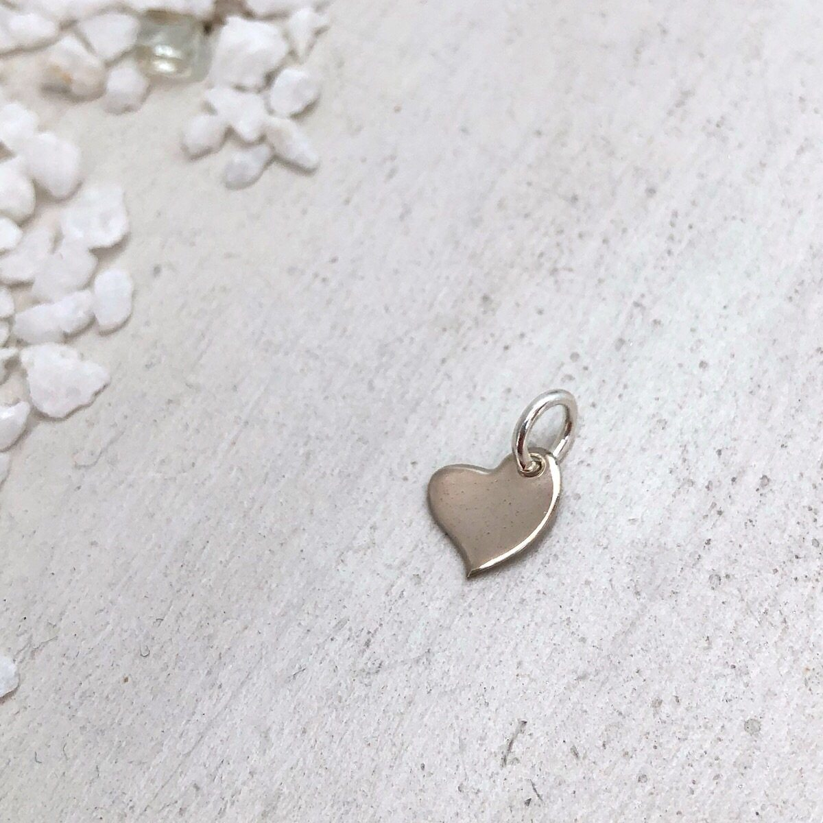 Tiny Heart Charm  - IsabelleGraceJewelry