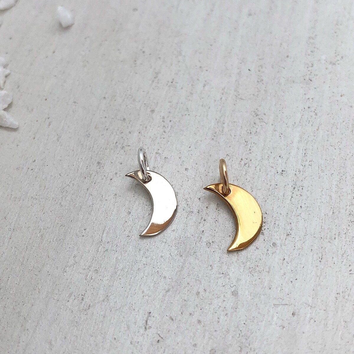 Tiny Moon Charm  - IsabelleGraceJewelry