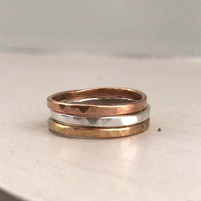 Trio Stacking Bands  - IsabelleGraceJewelry