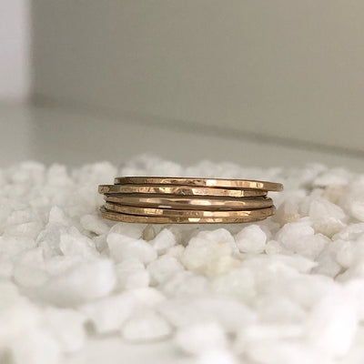 Ultra Thin Stacking Rings Gold