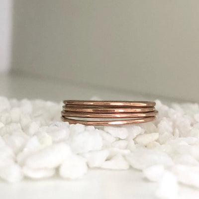 Ultra Thin Stacking Rings Rose Gold