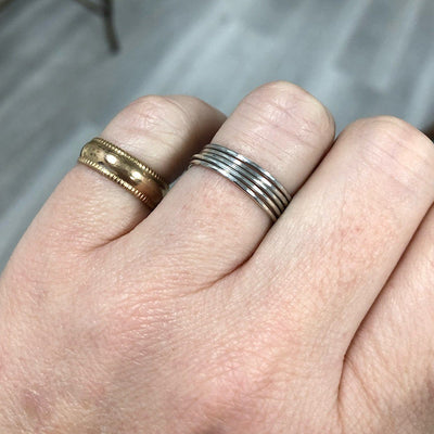 Ultra Thin Stacking Rings Silver