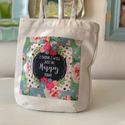 Fabric Tote Bag - I THINK I WILL