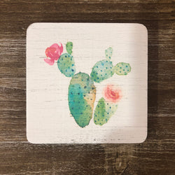 Succulent Painted Coaster