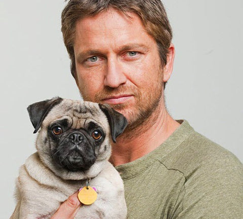 gerard butler and dog