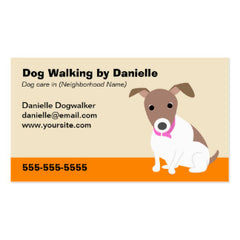 dog walking business cards
