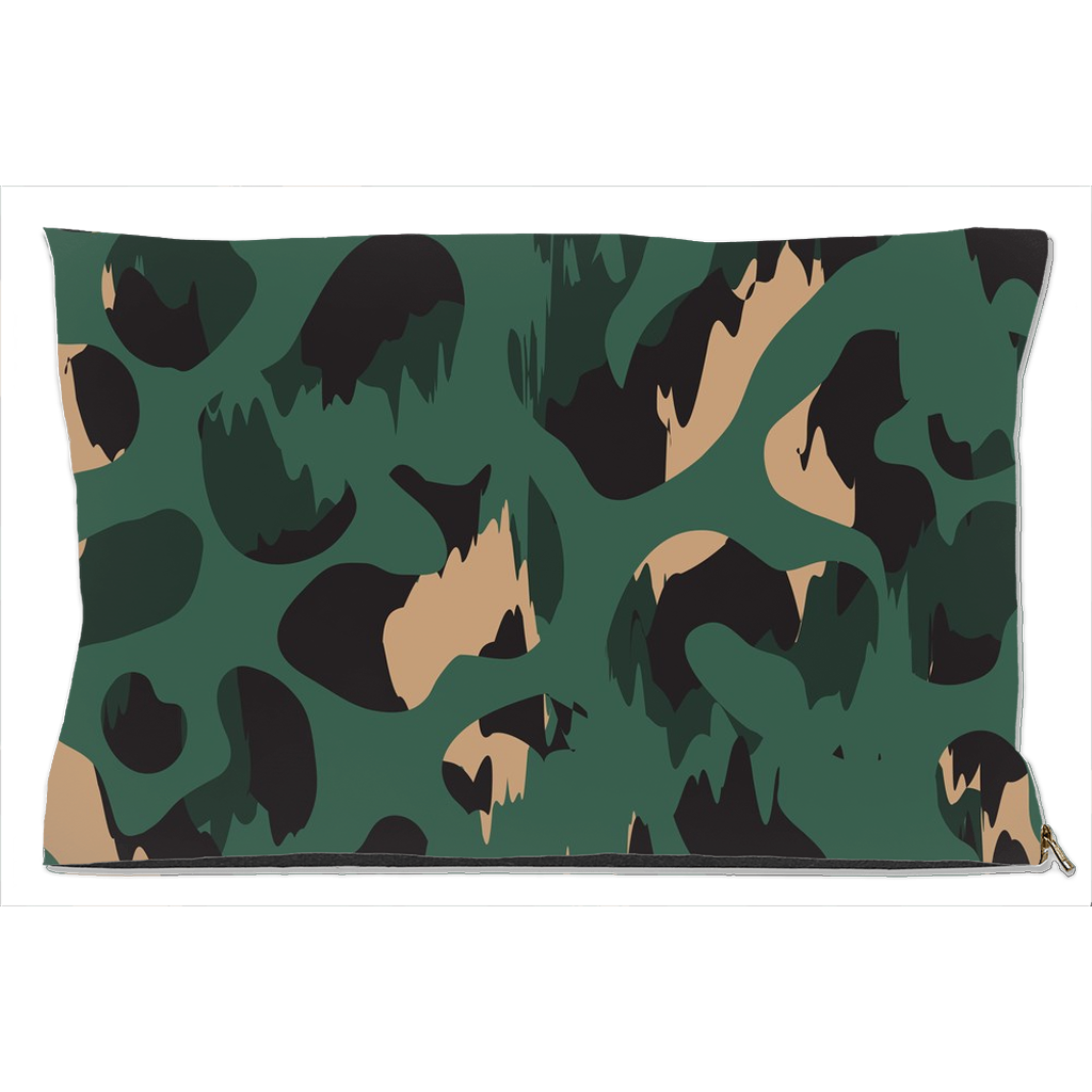 Green Dog Bed in Camouflage Design