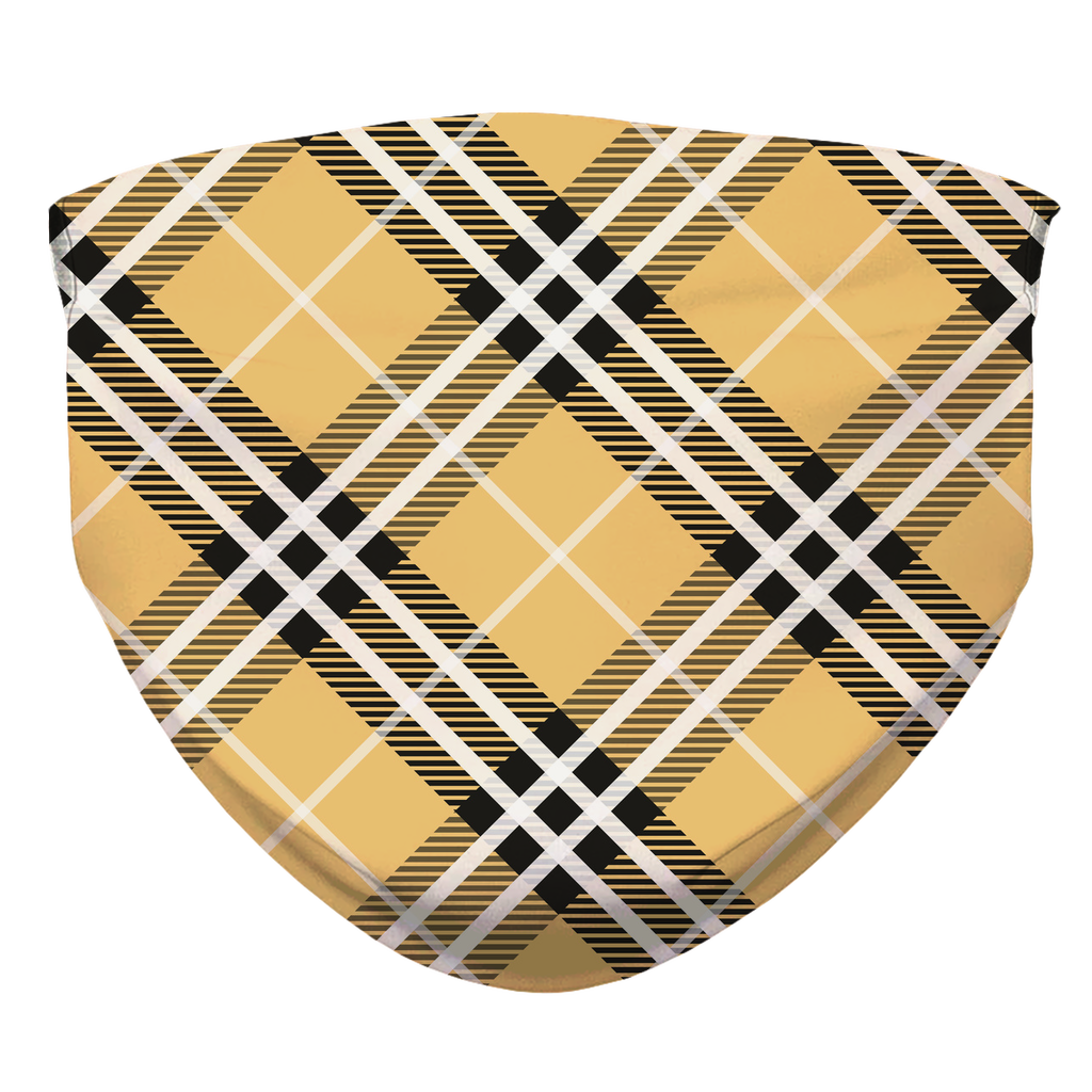 Tan Plaid Face Mask