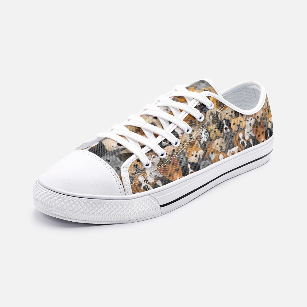 Dogs Unisex Low Top Canvas Shoes