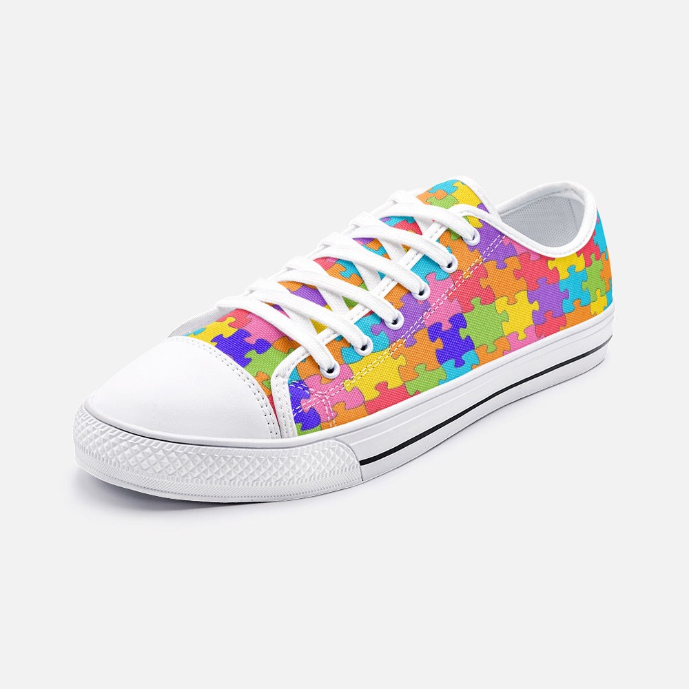 Autism Awareness Rainbow Unisex Low Top Canvas Shoes