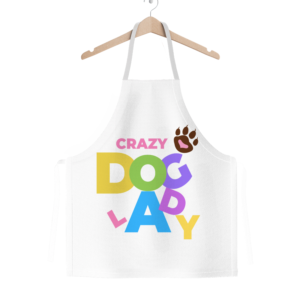 Crazy Dog Lady Wonky Women's Classic Adult Apron