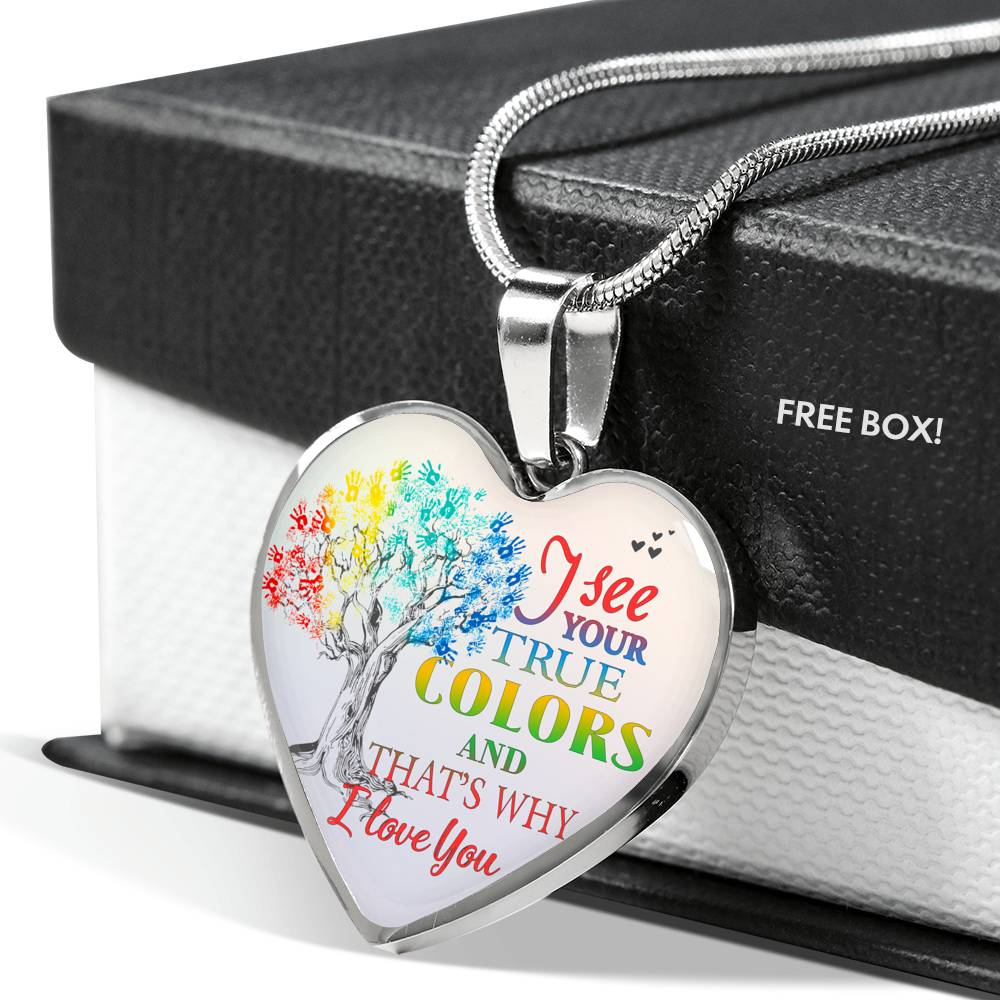 I See Your True Colors Autism Awareness Necklace