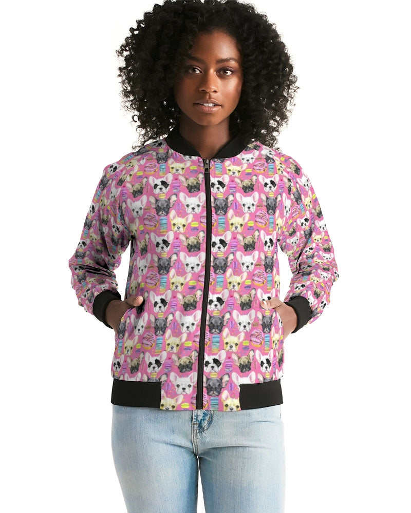 Frenchies and Macaroons Women's Bomber Jacket