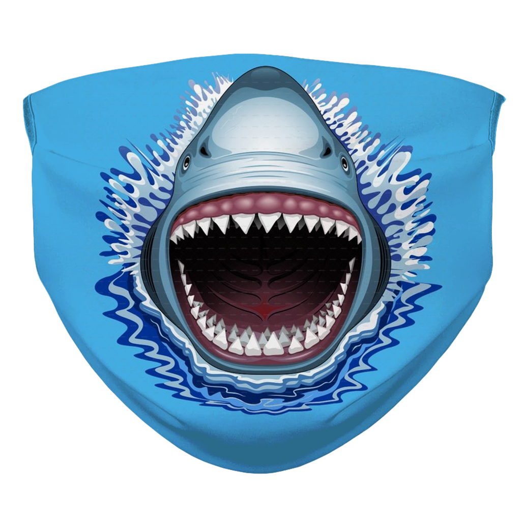 Jaws Shark  Face Mask With Filter