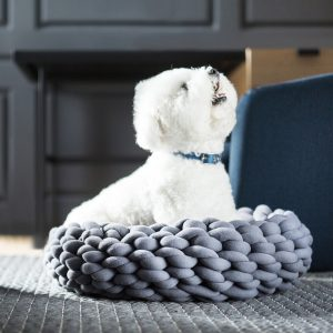 Nordic Style Braided Dog Bed