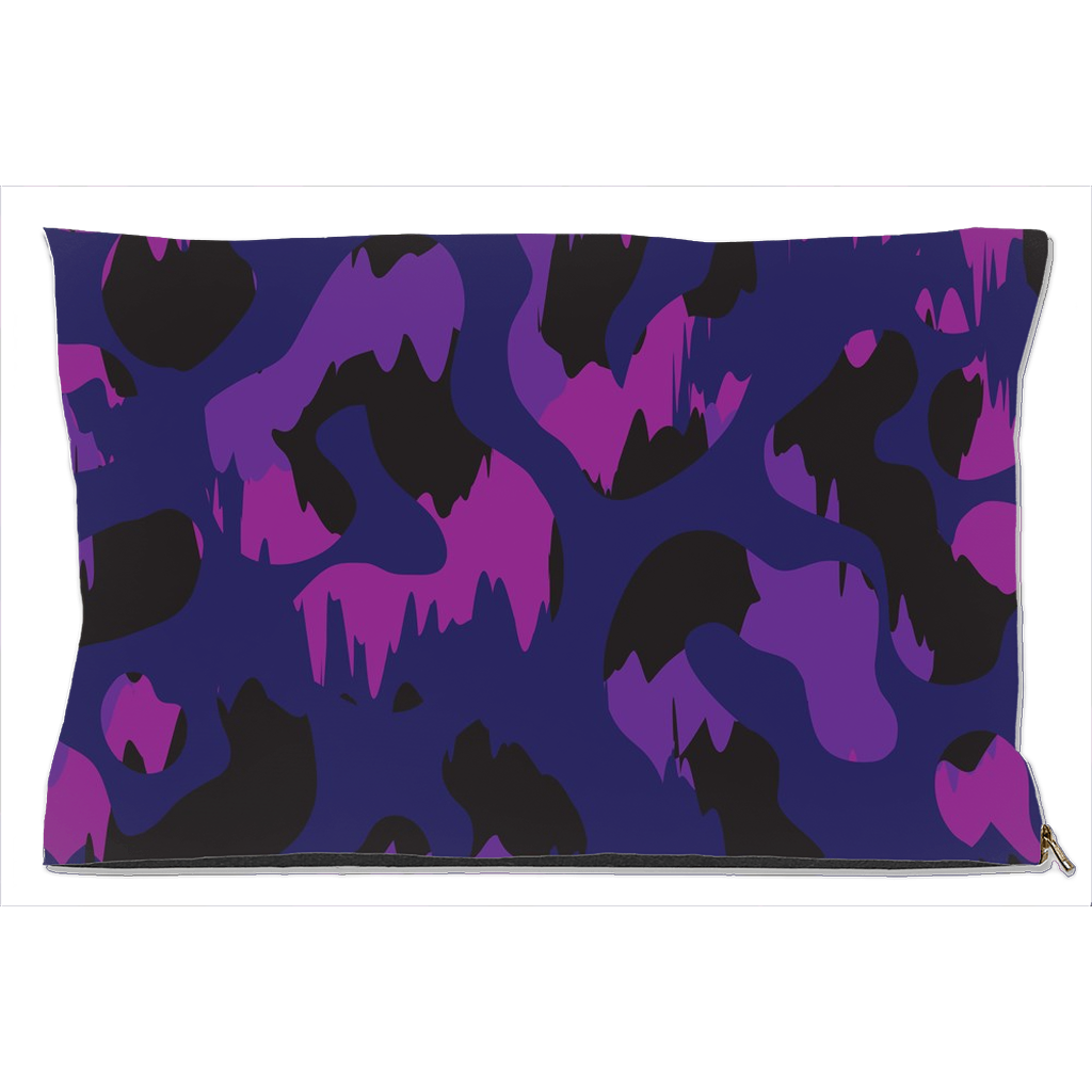 Purple Camouflage Dog Bed