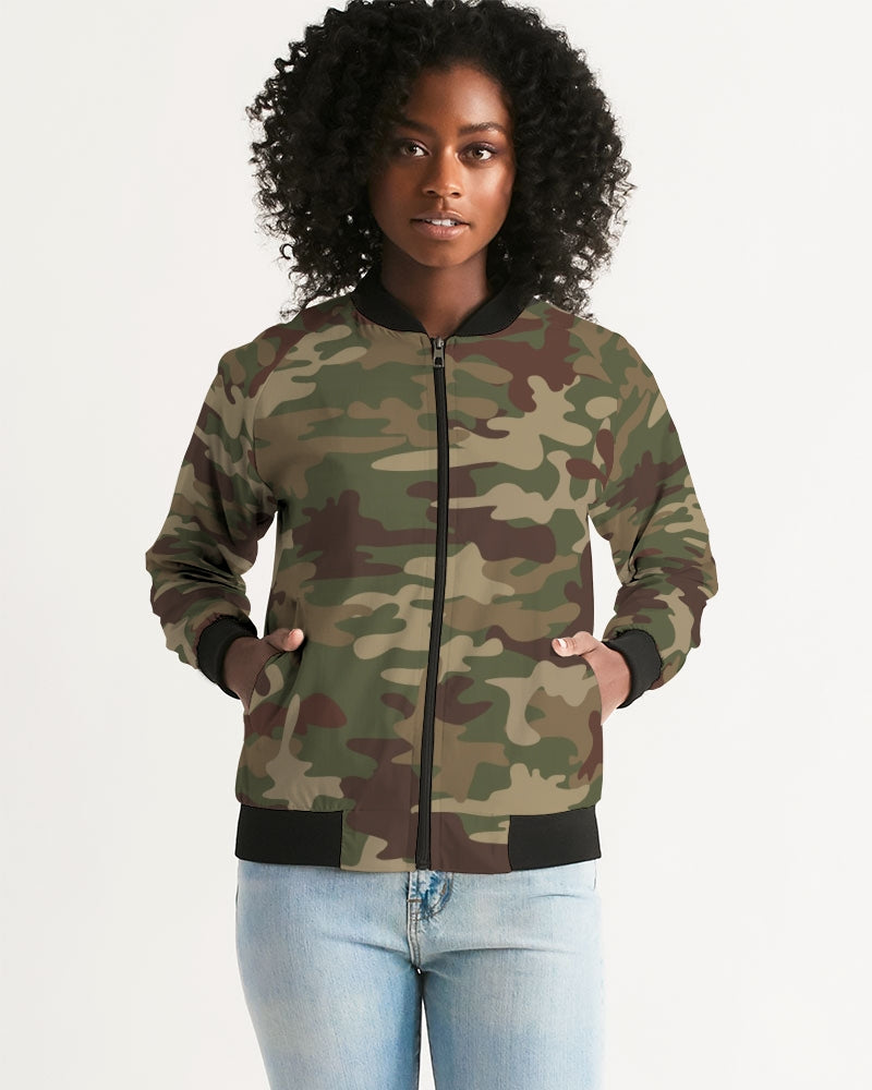 Army Green Women's Bomber Jacket