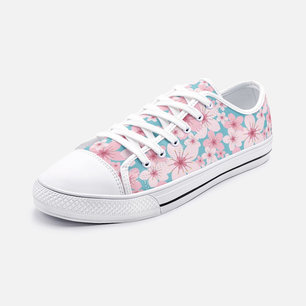 Pretty Floral Low Top Canvas Shoes
