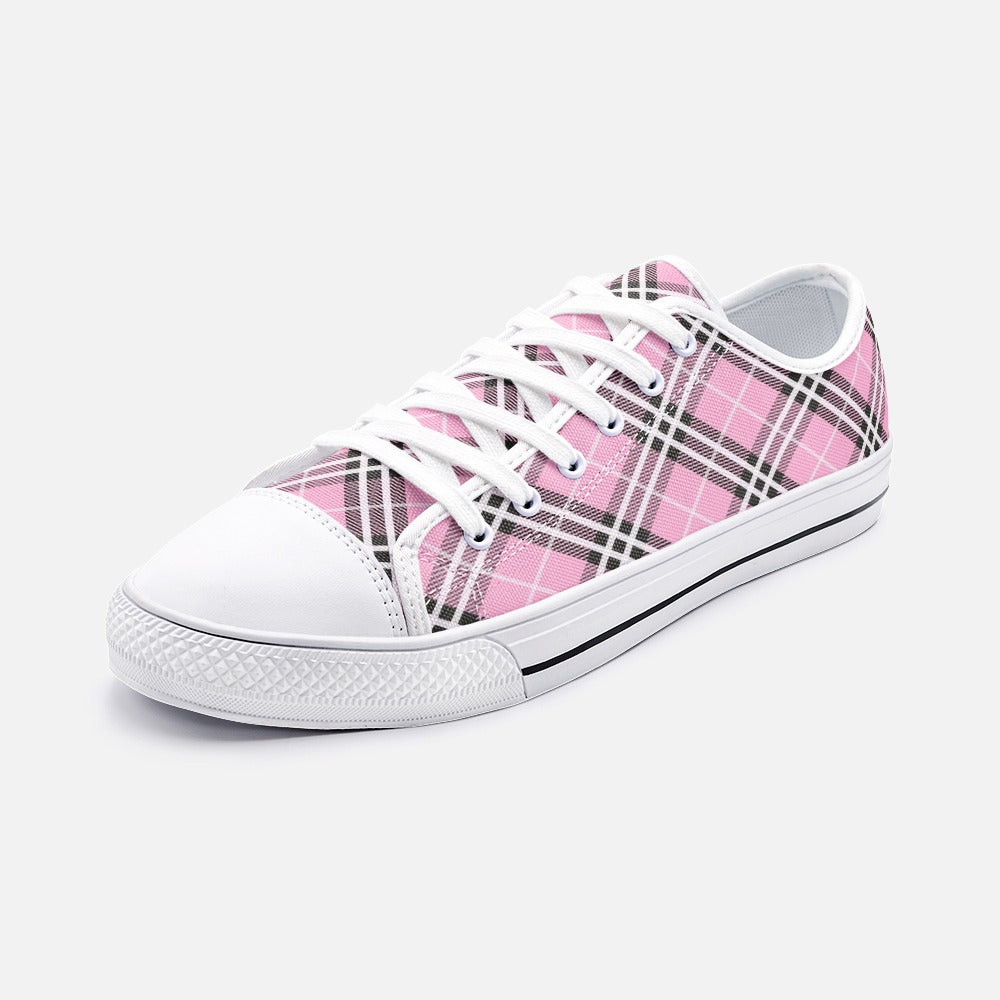 Light Pink Unisex Low Top Canvas Shoes