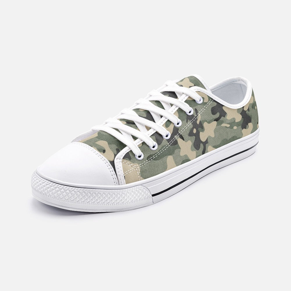 Army Green Unisex Low Top Canvas Shoes