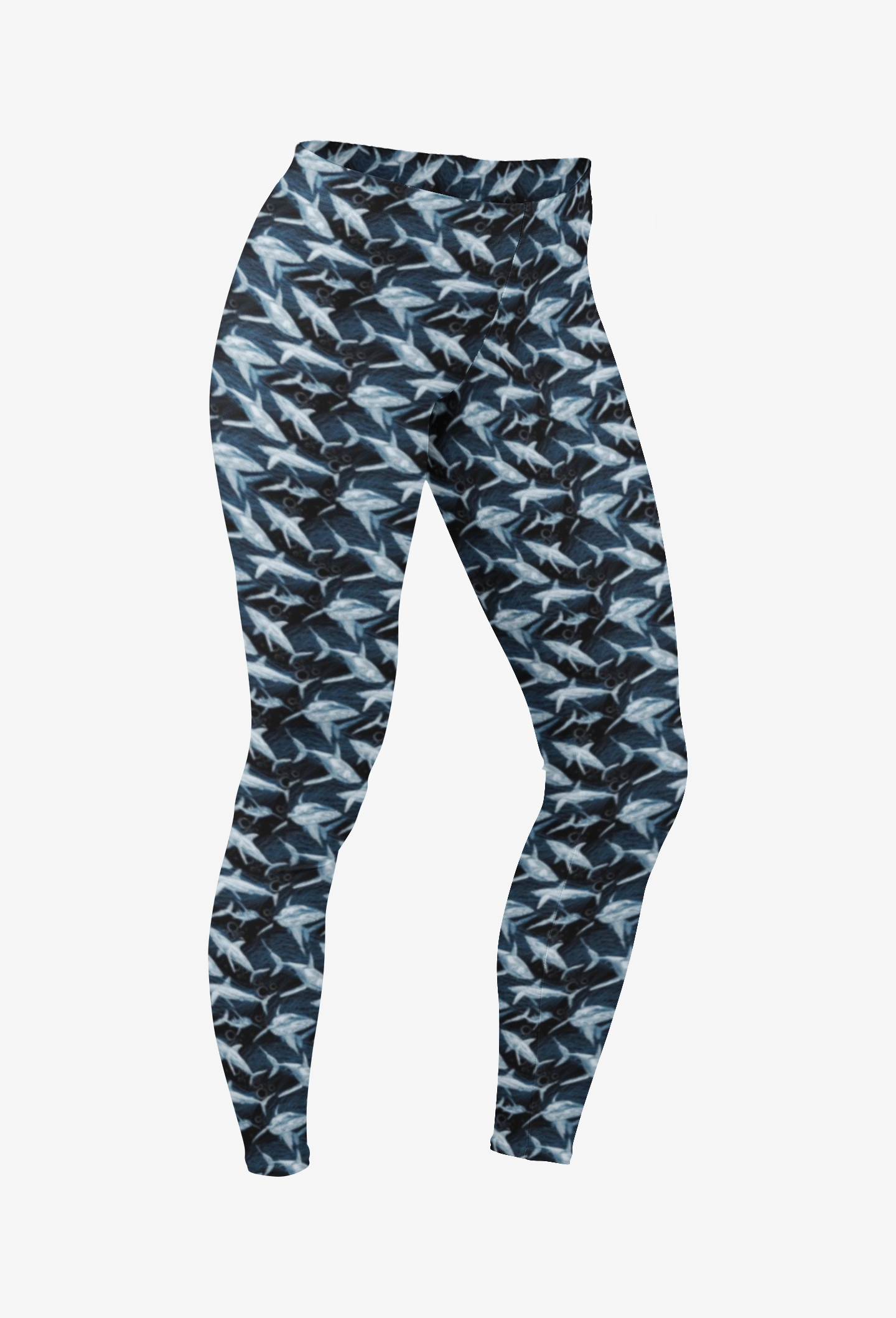 Deep Blue Shark Leggings