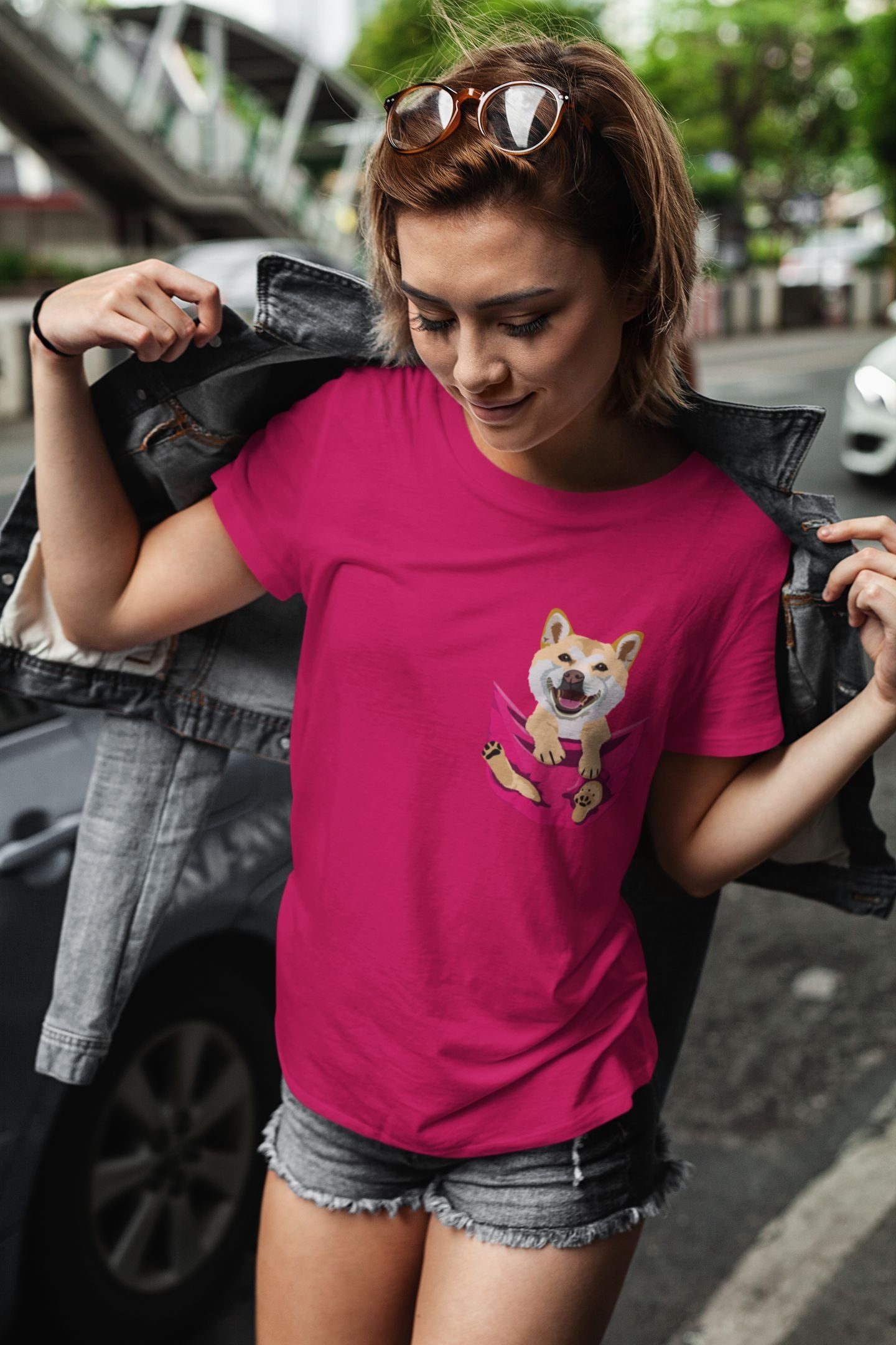 Pocket Buddies Ladies Jersey Short Sleeve Tee
