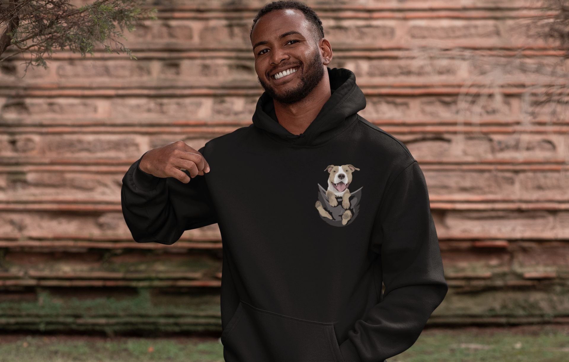 Pocket Buddies Men's Hooded Sweatshirt - Completely Customizable
