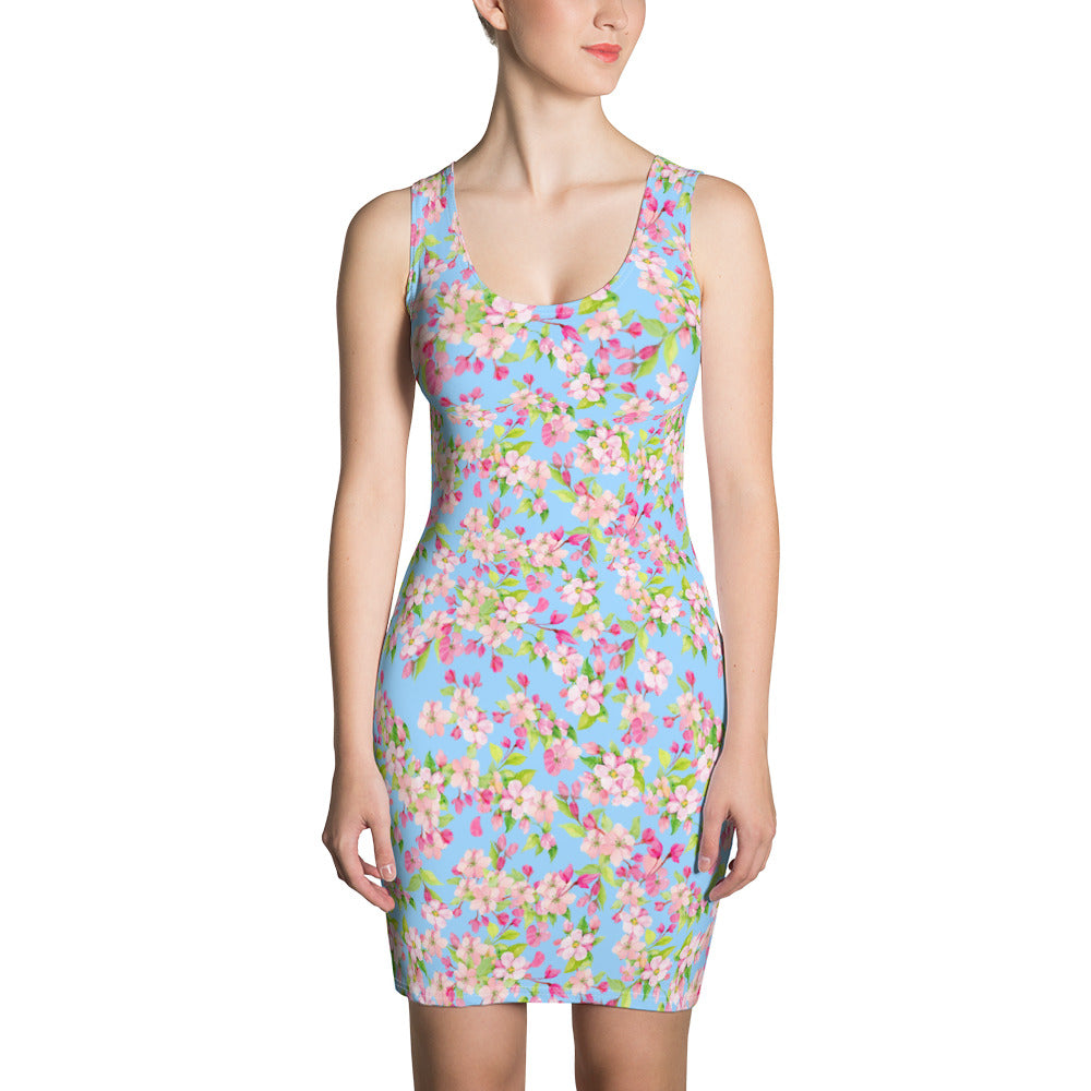 Floral Spring Bodycon Dress