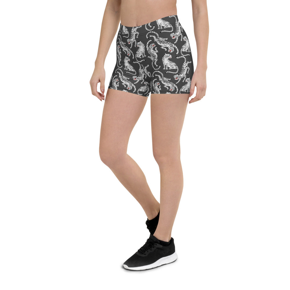 Black Tiger Workout Shorts