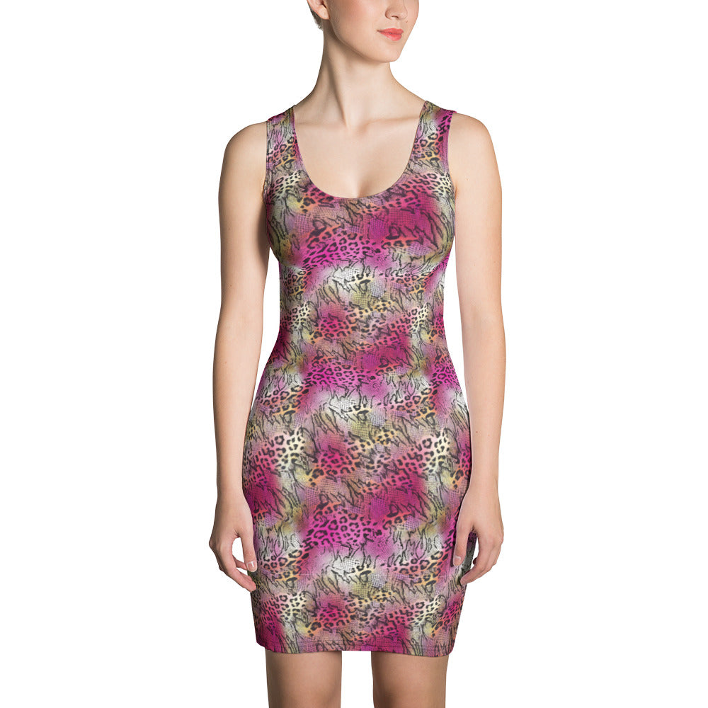 Pink Snake Bodycon Dress