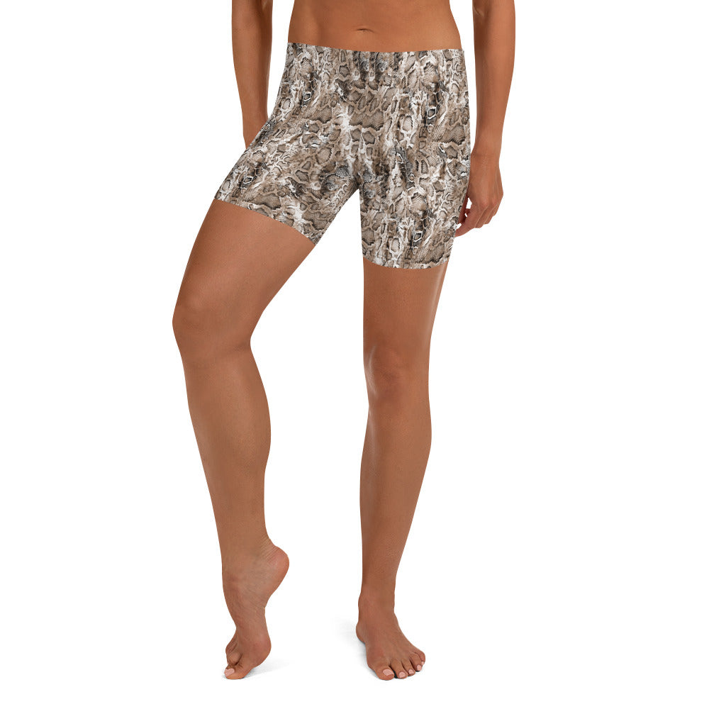 Brown Snake Workout Shorts