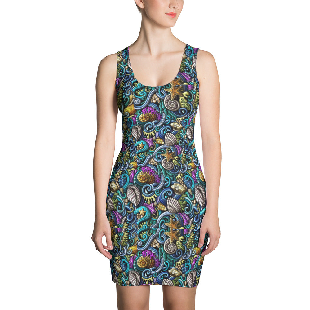 Colorful Sealife Bodycon Dress