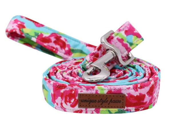 Pink Flower Dog Leash