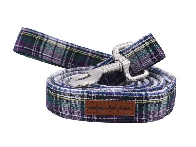 Green Checked Dog Leash