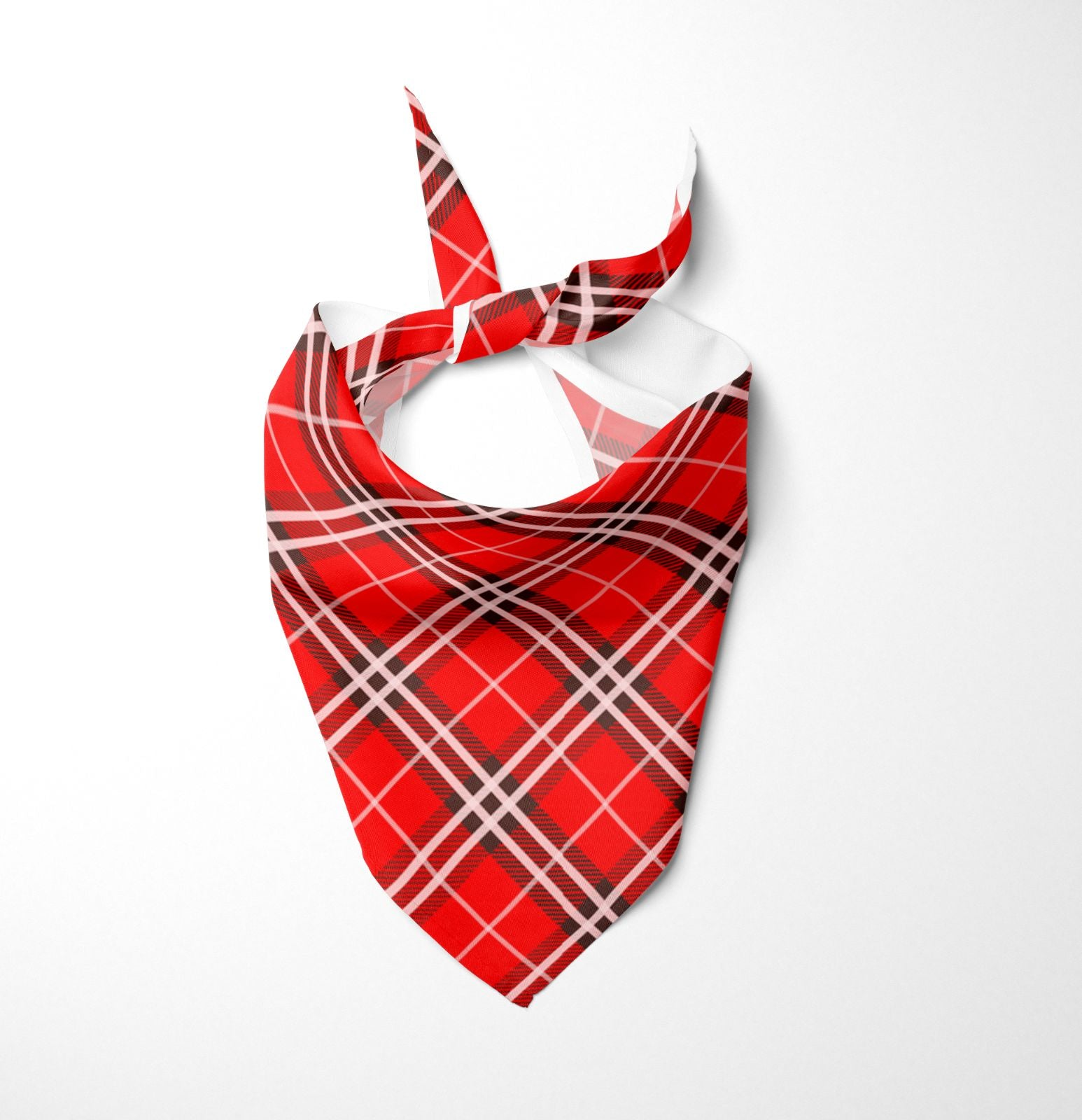 Red Tartan Dog Bandana