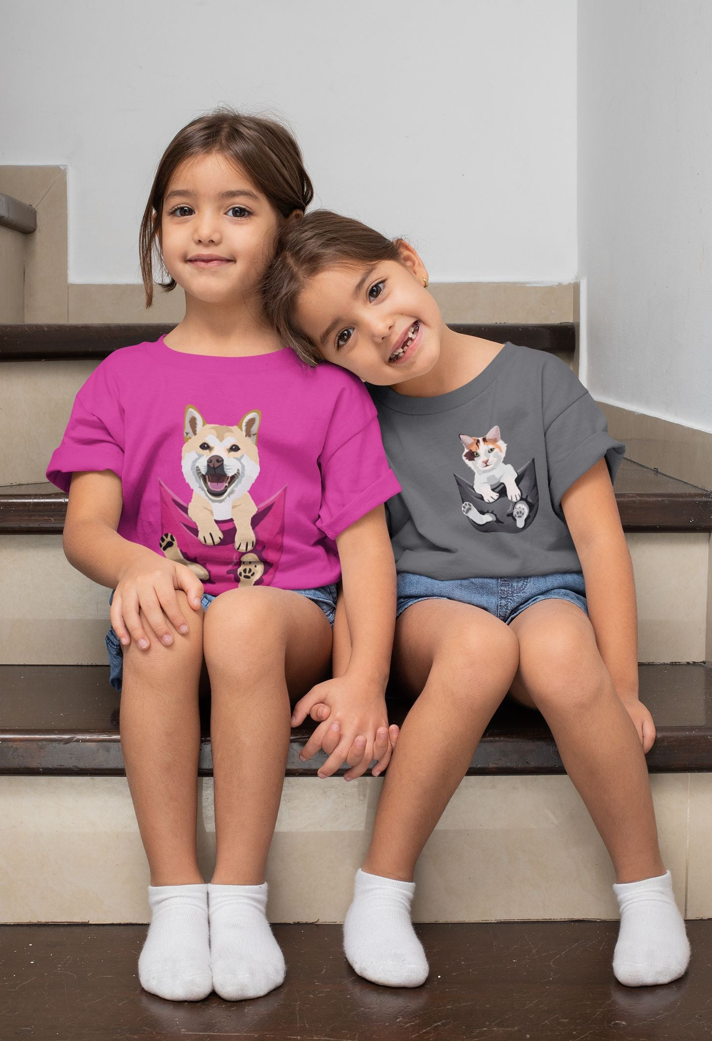 Pocket Buddies Kids Softstyle Tee - Completely Customizable