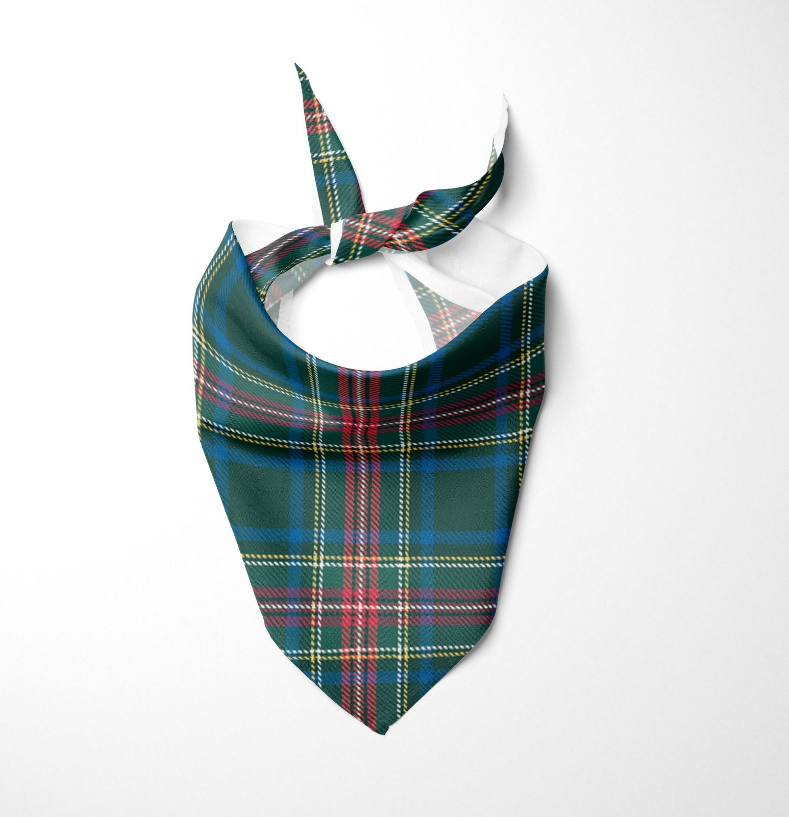 Green Scottish Tartan Dog Bandana