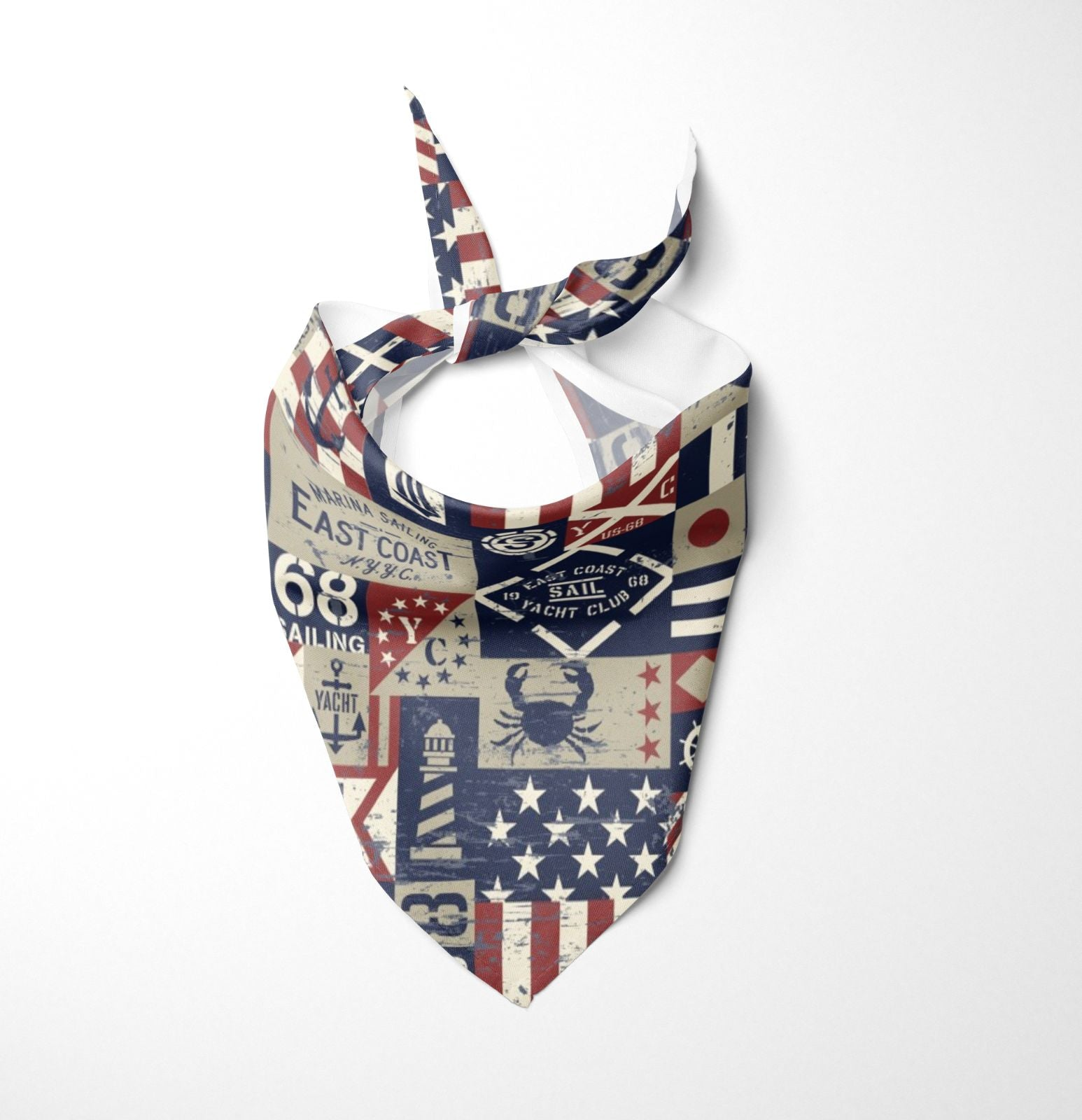 USA Flag Dog Bandana