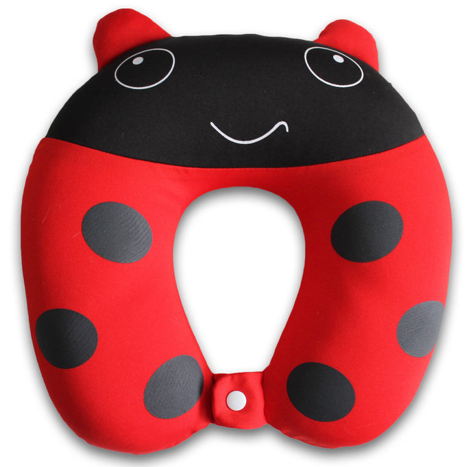 Nido Nest Kids Travel Neck Car Pillow - for Child Toddler Airplane Cars LADYBUG