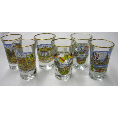 German City Shot Glass - All Steins