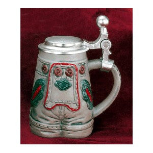 Mini men's lederhosen stein