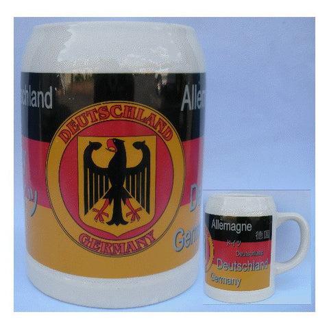 "Ceramic Multilingual ""Deutschland"" Mug - All Steins"