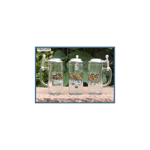 Beer Wagon Shot Glasses w/ Pewter Lid - All Steins
