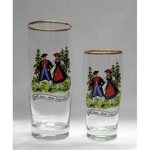 Black Forest Couple Beer Glass - All Steins