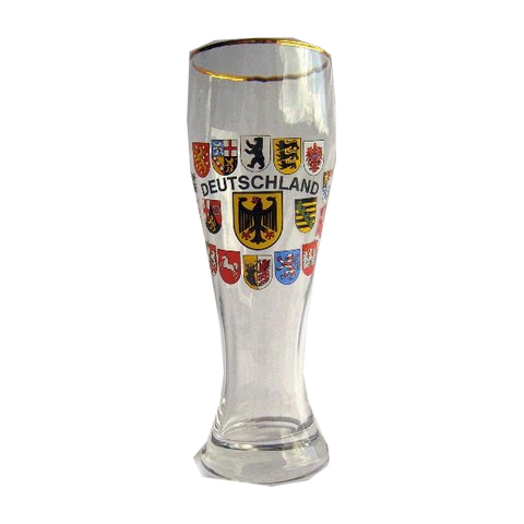 Deutschland Beer Glass with State Crests - All Steins