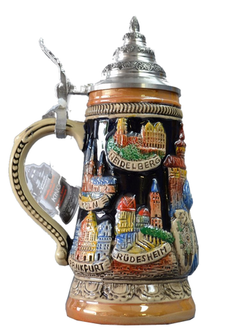 """Deutschland"" Stein with Eagle, Cuckoo Clock, and Nutcracker - All Steins"