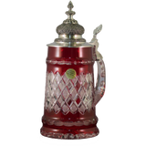 Diamond Cut Red Crystal Stein - All Steins
